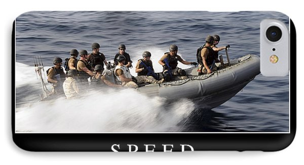 Speed Inspirational Quote IPhone Case by Stocktrek Images