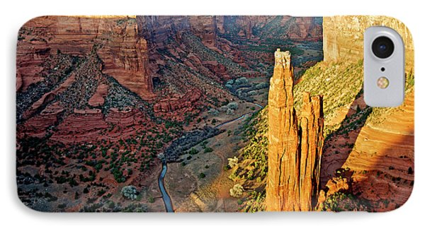 Spider Rock In Canyon De Chelly IPhone Case by Richard Wright