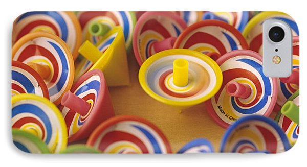 Spinning Tops Phone Case by Jim Corwin