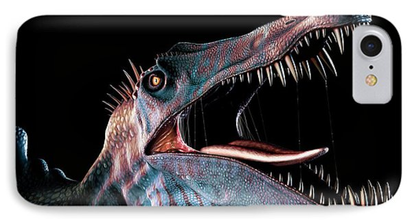 Spinosaurus Head Study IPhone Case by Mark Garlick