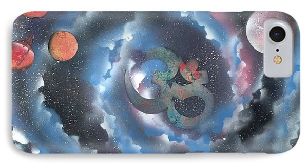 Spiral Galaxy Om IPhone Case by Thomas Roteman
