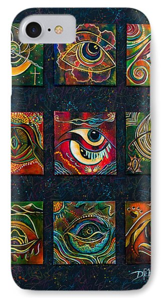 IPhone Case featuring the painting Spirit Eye Collection II by Deborha Kerr