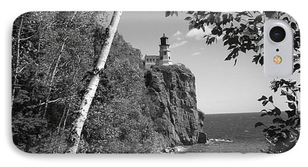 Split Rock Black And White IPhone Case by Bonfire Photography