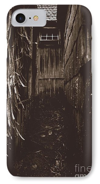 Spooky Early Settlers Rundown Country House IPhone Case