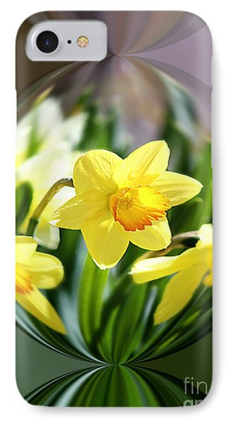 Spring Daffodils   IPhone Case by Tina  LeCour