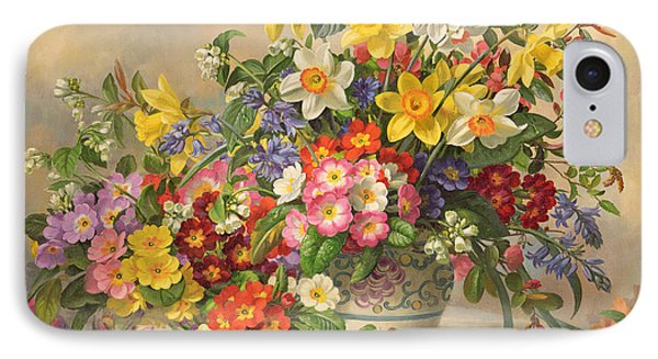 Spring Flowers And Poole Pottery Phone Case by Albert Williams