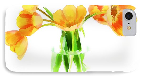 Spring Tulips Phone Case by Darren Fisher