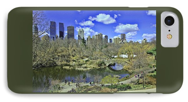 Springtime In Central Park IPhone Case by Allen Beatty