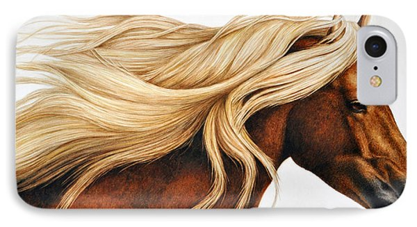 Horse iPhone 7 Case - Spun Gold by Pat Erickson