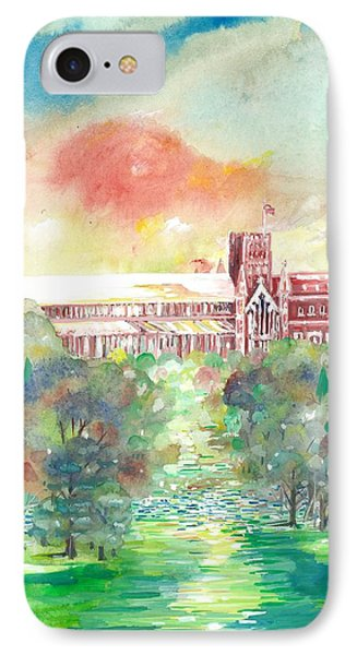 St Albans Abbey - Sunset IPhone Case by Giovanni Caputo