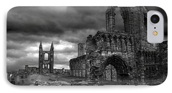 St Andrews Cathedral And Gravestones IPhone Case