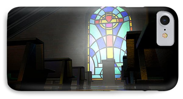 Stained Glass Window Church IPhone Case by Allan Swart