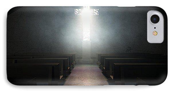 Stained Glass Window Crucifix Church IPhone Case