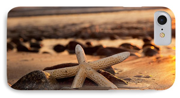 Starfish On The Beach At Sunset IPhone Case