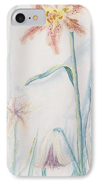 IPhone Case featuring the painting Stargazer Lily by Cathy Long
