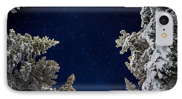 Starry Cold Night And Trees, Lapland IPhone Case by Panoramic Images