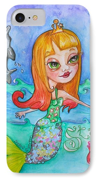 Starshine Mermaid IPhone Case by Shelley Overton
