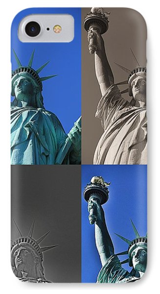 Statue Of Liberty IPhone Case by Dan Sproul
