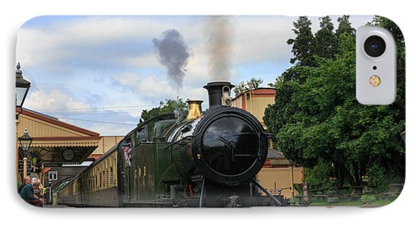 Steam Locomotive 4270 Arrives At Toddington Station IPhone Case by Louise Heusinkveld