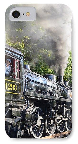 Steam Train Iv IPhone Case by Ann Bridges