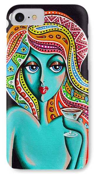 IPhone Case featuring the painting Stephanie Groovy Chick Detail by Joseph Sonday