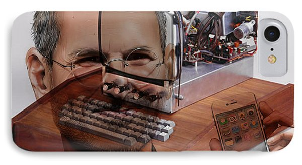 Steve Jobs IPhone Case by Marvin Blaine