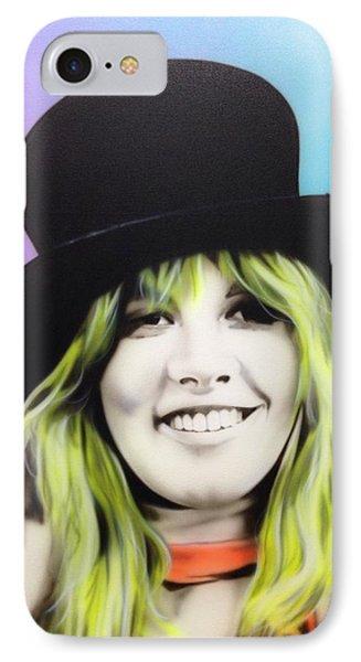 Stevie Nicks - ' Stevie ' IPhone Case by Christian Chapman Art