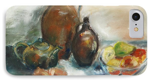 Still Life With Earthen Jugs Phone Case by Barbara Pommerenke