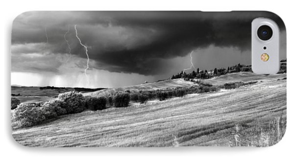 Storm Approcing The Tuscan Countryside IPhone Case by Yuri Santin
