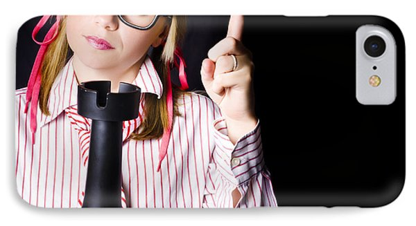 Strategic Nerd Thinking Up Business Plan IPhone Case by Jorgo Photography - Wall Art Gallery
