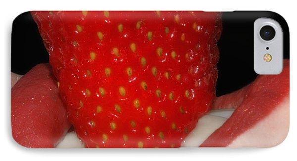 Strawberry Lips Phone Case by Joann Vitali