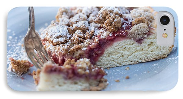Strawberry Streusel Kuchen IPhone Case by Iris Richardson