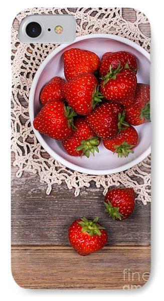 Strawberry Vintage Phone Case by Jane Rix