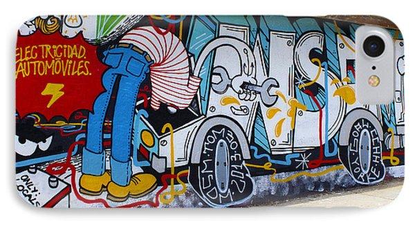 Street Art Valparaiso Chile 15 Phone Case by Kurt Van Wagner