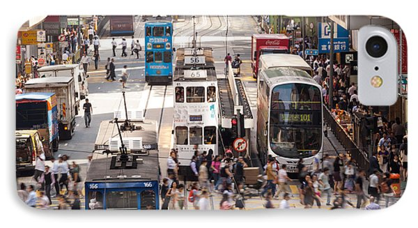 Street Scene In Hong Kong IPhone Case