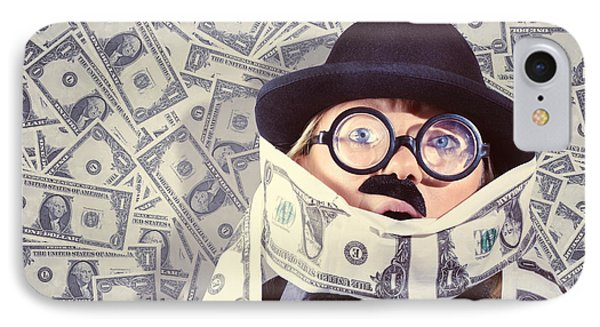 Stressed Business Man Drowning In Financial Debt IPhone Case