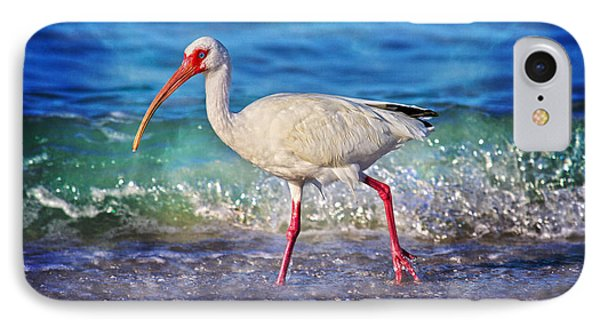 Ibis iPhone 7 Case - Strolling by Betsy Knapp