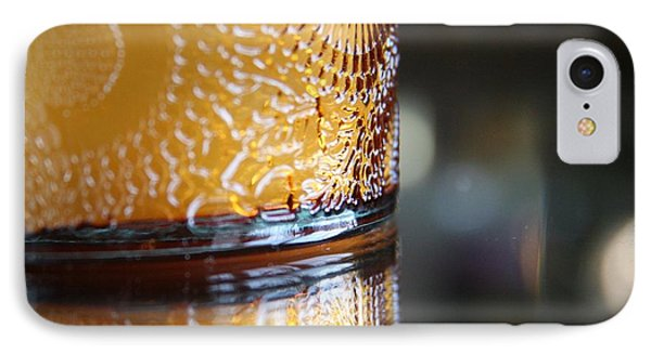 IPhone Case featuring the photograph Studies In Glass ...amber  by Lynn England
