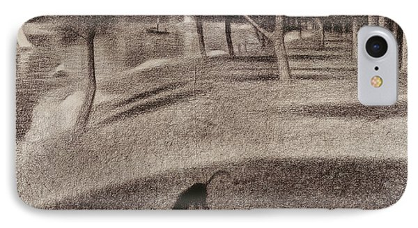 Study For Sunday Afternoon On The Island Of La Grande Jatte IPhone Case