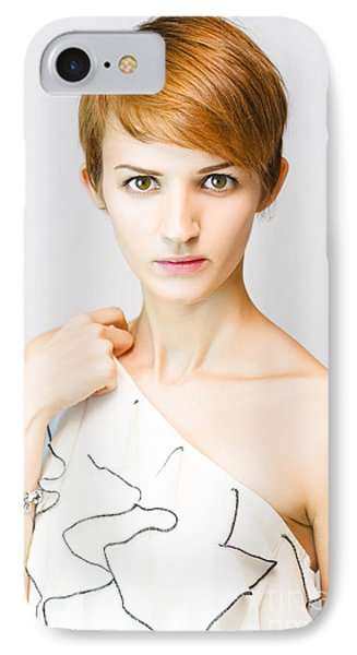 Stunned And Surprised Fashion Model IPhone Case by Jorgo Photography - Wall Art Gallery