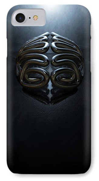 Stylized Thought Statue IPhone Case