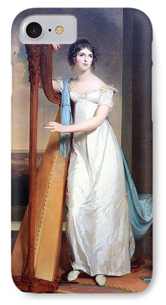 Sully's Lady With A Harp -- Eliza Ridgely IPhone Case by Cora Wandel