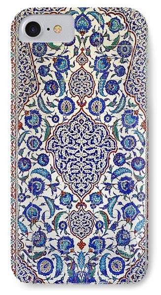 Sultan Selim II Tomb 16th Century Hand Painted Wall Tiles IPhone Case by Ralph A  Ledergerber-Photography