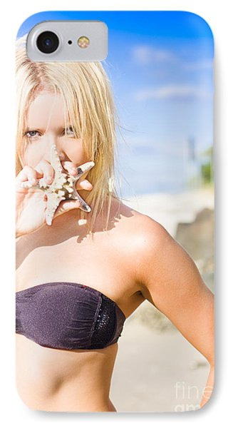 Summer Beach Babe IPhone Case