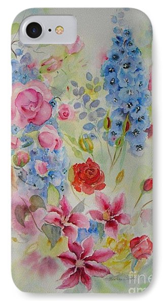 IPhone Case featuring the painting Summer Border by Beatrice Cloake