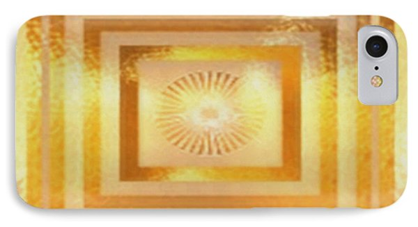 Sun Chakra Gold Pattern Textures Patterns Background Designs  And Color Tones N Color Shades Availab IPhone Case by Navin Joshi