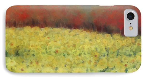 IPhone Case featuring the painting Sunflower Days by Katie Black