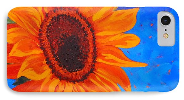 IPhone Case featuring the painting Sunflower Glow by Janet McDonald