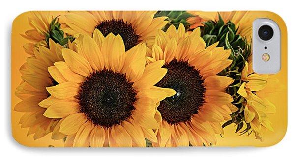 Sunflowers In Vase IPhone Case by Elena Elisseeva