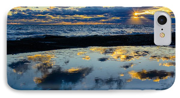 Sunrise Lake Michigan September 14th 2013 006 IPhone Case by Michael  Bennett